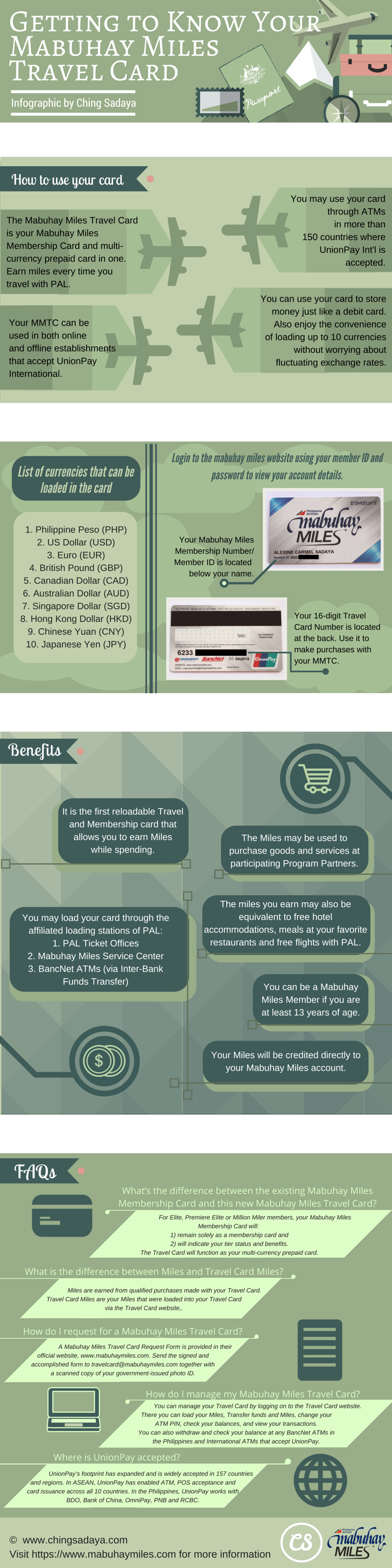 PAL Getting to Know Your Mabuhay Miles Travel Card Infographic by Ching Sadaya final