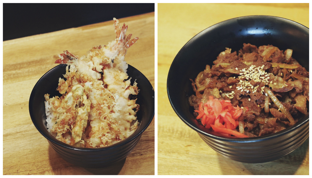 Barikata Ramen Bar - Ramenology II - fried tempura and gyudon rice bowl- Ching Sadaya Blog