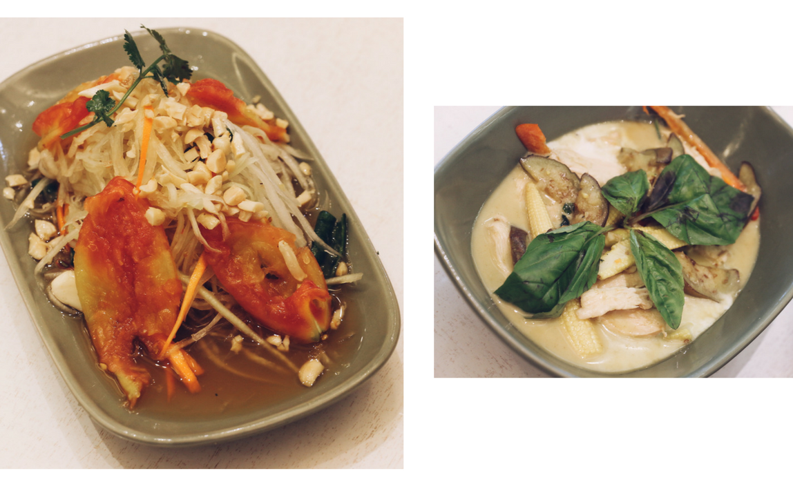 Soi - Papaya salad and Chicken in green curry - SM Seasise City Cebu - Ching Sadaya blog