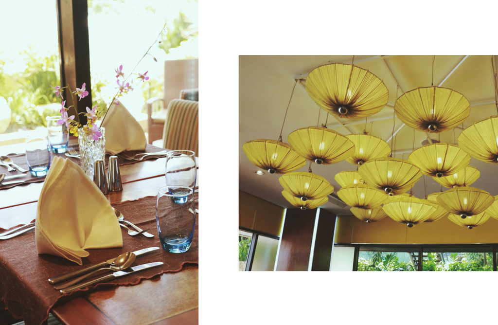 Marco Polo Brunch n Bubbles - table setup and ceiling lights - Ching Sadaya blog